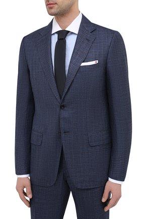 Мужской костюм из кашемира и шелка KITON синего цвета, арт. UA81K06T12   Фото 2