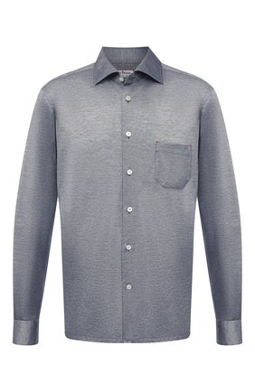 Мужская хлопковая рубашка KITON серого цвета, арт. UMCNERH0760904   Фото 1