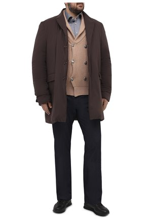 Мужская хлопковая рубашка KITON серого цвета, арт. UMCNERH0760904   Фото 2