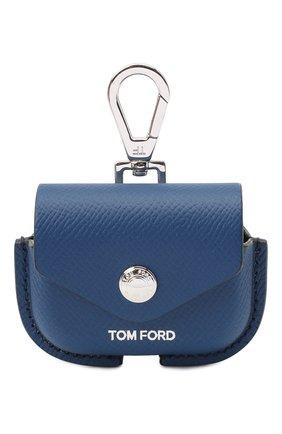 Кожаный чехол для airpods pro TOM FORD синего цвета, арт. Y0304P-LCL081 | Фото 1