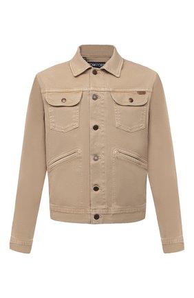 Мужская джинсовая куртка TOM FORD бежевого цвета, арт. BVJ35/TFD116 | Фото 1 (Длина (верхняя одежда): Короткие; Материал внешний: Хлопок; Рукава: Длинные; Кросс-КТ: Куртка; Стили: Кэжуэл)
