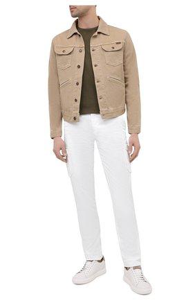 Мужская джинсовая куртка TOM FORD бежевого цвета, арт. BVJ35/TFD116 | Фото 2 (Длина (верхняя одежда): Короткие; Материал внешний: Хлопок; Рукава: Длинные; Кросс-КТ: Куртка; Стили: Кэжуэл)
