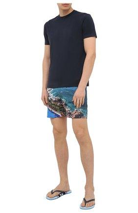 Мужские шлепанцы ORLEBAR BROWN синего цвета, арт. 272292 | Фото 2