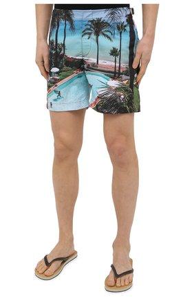 Мужские плавки-шорты ORLEBAR BROWN голубого цвета, арт. 273244   Фото 3 (Материал внешний: Синтетический материал; Принт: С принтом; Мужское Кросс-КТ: плавки-шорты)