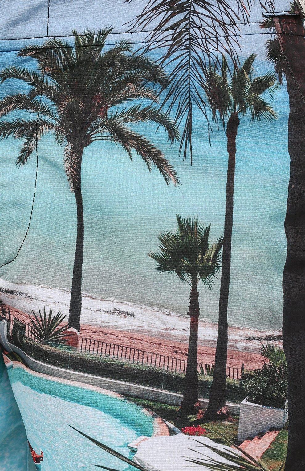 Мужские плавки-шорты ORLEBAR BROWN голубого цвета, арт. 273244   Фото 5 (Материал внешний: Синтетический материал; Принт: С принтом; Мужское Кросс-КТ: плавки-шорты)