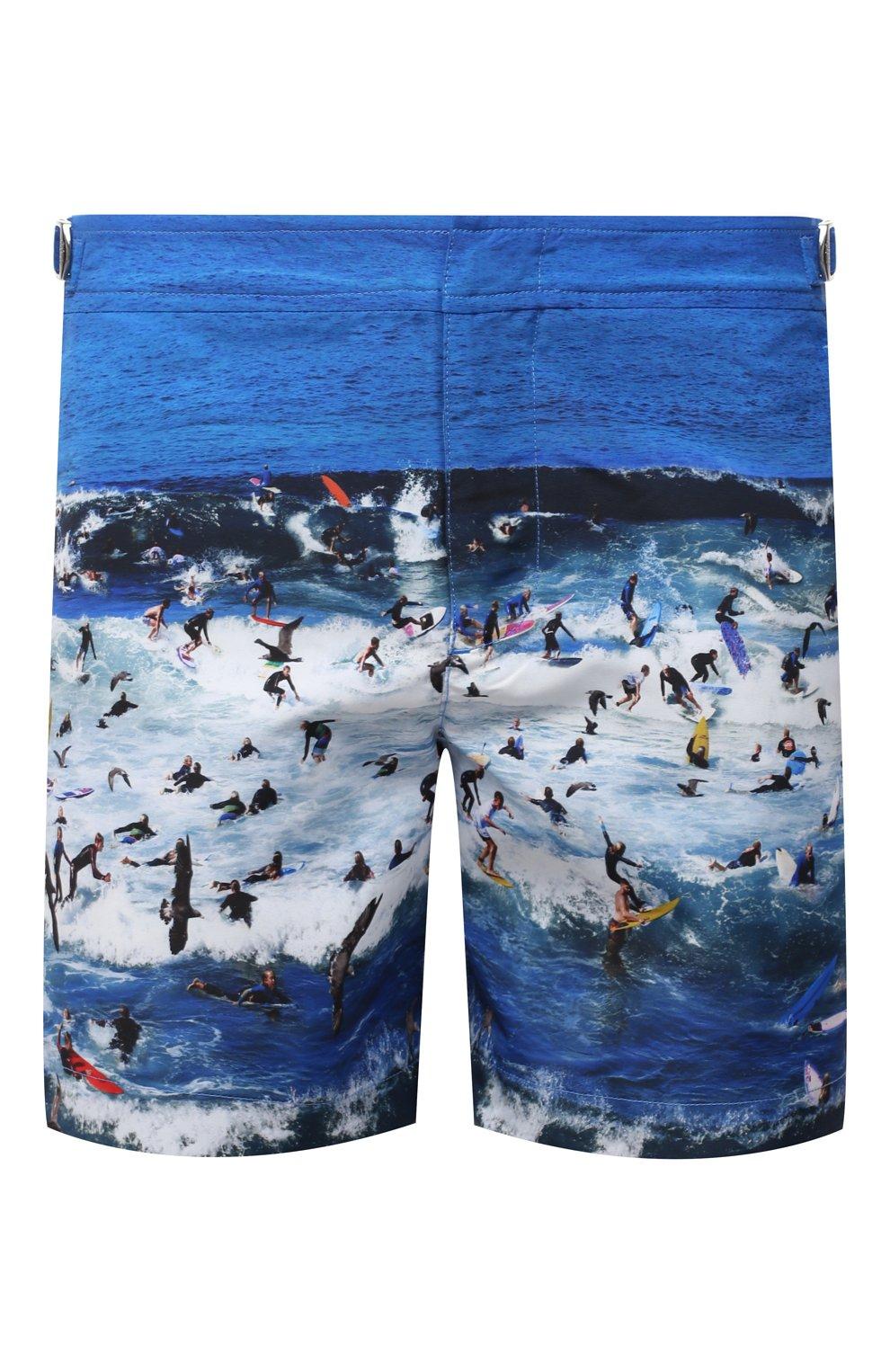 Мужские плавки-шорты ORLEBAR BROWN синего цвета, арт. 273243 | Фото 1 (Материал внешний: Синтетический материал; Принт: С принтом; Мужское Кросс-КТ: плавки-шорты)