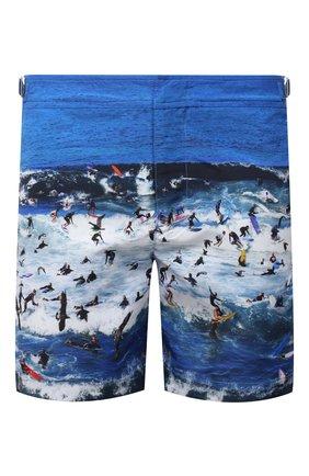 Мужские плавки-шорты ORLEBAR BROWN синего цвета, арт. 273243 | Фото 1 (Материал внешний: Синтетический материал; Мужское Кросс-КТ: плавки-шорты; Принт: С принтом)
