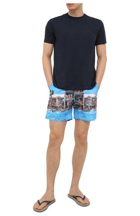 Мужские плавки-шорты ORLEBAR BROWN разноцветного цвета, арт. 273242 | Фото 2 (Принт: С принтом; Мужское Кросс-КТ: плавки-шорты; Материал внешний: Синтетический материал)