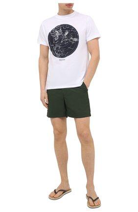 Мужские плавки-шорты ORLEBAR BROWN зеленого цвета, арт. 272158 | Фото 2