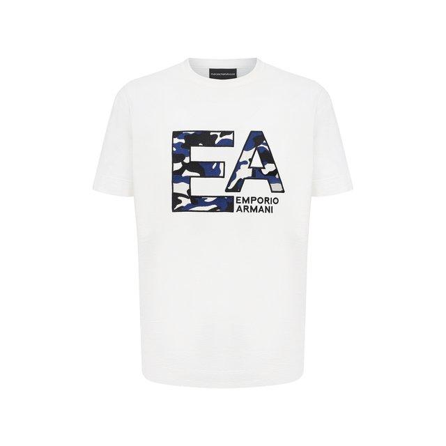 Хлопковая футболка Emporio Armani