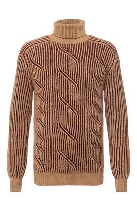 Мужской кашемировый свитер LORO PIANA бежевого цвета, арт. FAL3877 | Фото 1