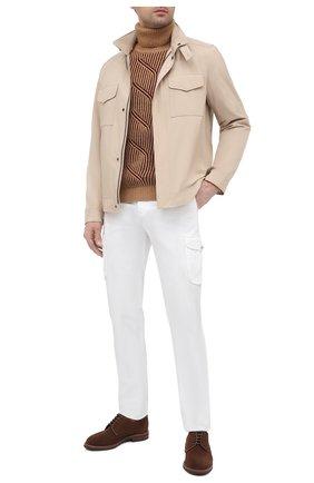 Мужской кашемировый свитер LORO PIANA бежевого цвета, арт. FAL3877 | Фото 2
