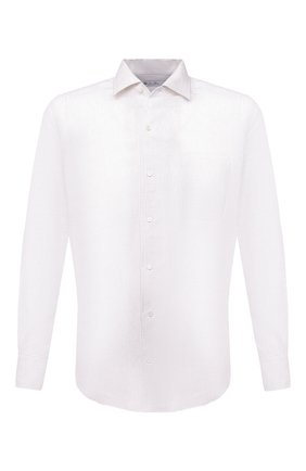 Мужская льняная рубашка LORO PIANA белого цвета, арт. FAL6145   Фото 1