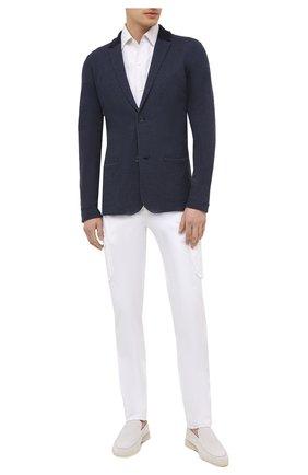 Мужская льняная рубашка LORO PIANA белого цвета, арт. FAL6145   Фото 2