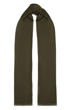 Мужской шарф из кашемира и льна LORO PIANA хаки цвета, арт. FAL5694 | Фото 1