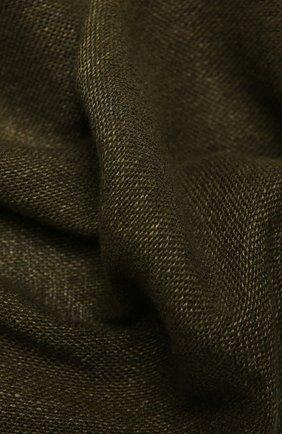 Мужской шарф из кашемира и льна LORO PIANA хаки цвета, арт. FAL5694 | Фото 2