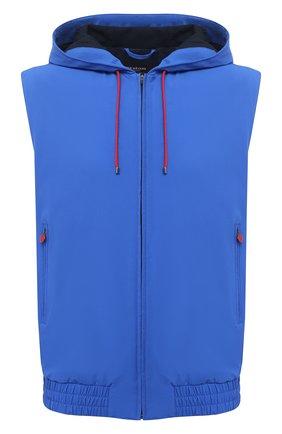 Мужской жилет KITON синего цвета, арт. UW0944V07T91/60-68 | Фото 1