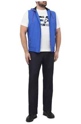Мужской жилет KITON синего цвета, арт. UW0944V07T91/60-68 | Фото 2
