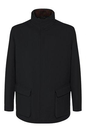 Мужская кашемировая куртка LORO PIANA черного цвета, арт. FAG3180 | Фото 1