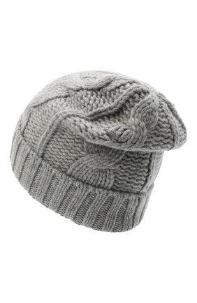 Мужская кашемировая шапка LORO PIANA светло-серого цвета, арт. FAL8121 | Фото 2