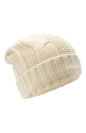 Мужская кашемировая шапка LORO PIANA белого цвета, арт. FAL8121 | Фото 1