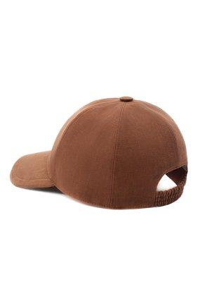 Мужской льняная бейсболка LORO PIANA коричневого цвета, арт. FAL7064 | Фото 2