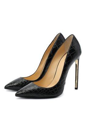 Женские туфли decollete из кожи крокодила RUBEUS MILANO черного цвета, арт. RU1/C/H120 | Фото 1