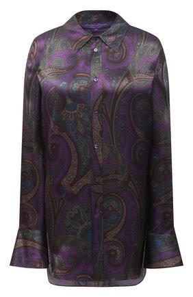 Женская шелковая рубашка RALPH LAUREN фиолетового цвета, арт. 293835443 | Фото 1