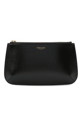 Женские кожаный кошелек GIORGIO ARMANI черного цвета, арт. Y1H356/YTF4A | Фото 1