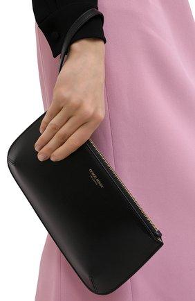 Женские кожаный кошелек GIORGIO ARMANI черного цвета, арт. Y1H356/YTF4A | Фото 2
