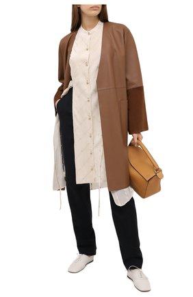 Женское кожаное пальто LOEWE коричневого цвета, арт. S359336XBS | Фото 2