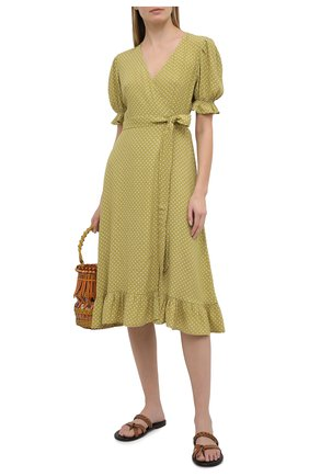 Женское платье из вискозы FAITHFULL THE BRAND зеленого цвета, арт. FF1570-BDF | Фото 2