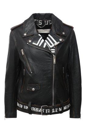 Женская кожаная куртка GOLDEN GOOSE DELUXE BRAND черного цвета, арт. GWP00774.P000144 | Фото 1