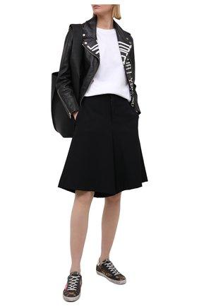Женская кожаная куртка GOLDEN GOOSE DELUXE BRAND черного цвета, арт. GWP00774.P000144 | Фото 2
