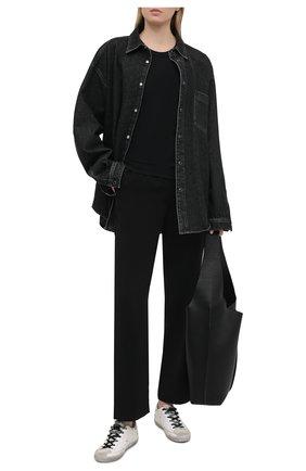 Женские кожаные кеды superstar GOLDEN GOOSE DELUXE BRAND белого цвета, арт. GWF00101.F000127 | Фото 2