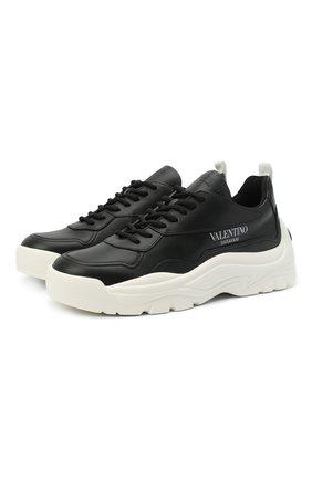 Женские кожаные кроссовки valentino garavani gumboy VALENTINO черно-белого цвета, арт. VW2S0K55/AEQ | Фото 1
