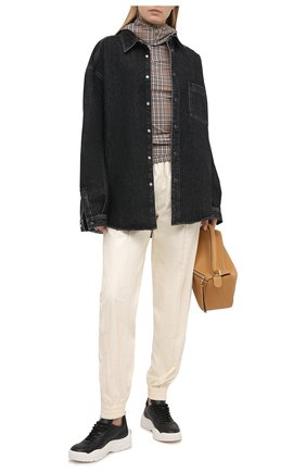 Женские кожаные кроссовки valentino garavani gumboy VALENTINO черно-белого цвета, арт. VW2S0K55/AEQ | Фото 2