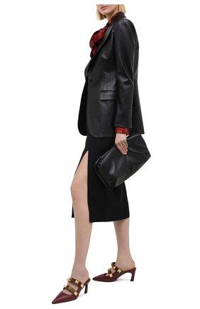 Женские кожаные мюли valentino garavani upstud VALENTINO бордового цвета, арт. VW2S0BM6/KET | Фото 2