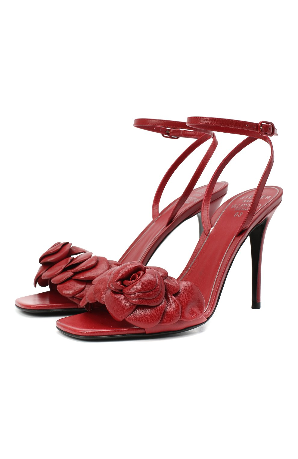 Женские кожаные босоножки valentino garavani atelier VALENTINO красного цвета, арт. VW2S0BJ3/HLK | Фото 1