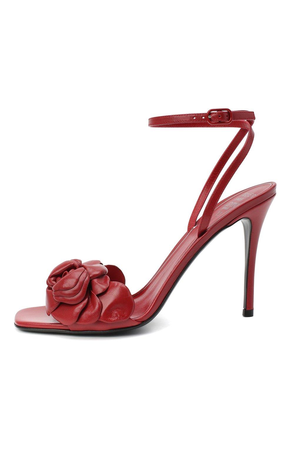 Женские кожаные босоножки valentino garavani atelier VALENTINO красного цвета, арт. VW2S0BJ3/HLK | Фото 3