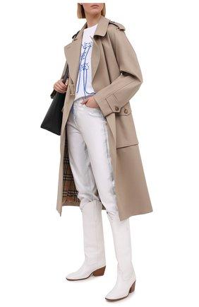 Женские джинсы 7 FOR ALL MANKIND белого цвета, арт. JSA7X370SC | Фото 2