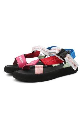 Женские комбинированные сандалии OFF-WHITE разноцветного цвета, арт. 0WIH007R21FAB0018400 | Фото 1
