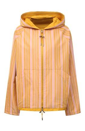 Женская ветровка LORO PIANA желтого цвета, арт. FAL5388   Фото 1 (Материал внешний: Синтетический материал, Шелк; Длина (верхняя одежда): Короткие; Кросс-КТ: Ветровка, Куртка; Стили: Спорт-шик; Материал подклада: Синтетический материал; Рукава: Длинные)