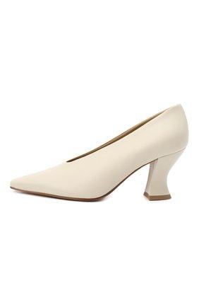 Женские кожаные туфли almond BOTTEGA VENETA кремвого цвета, арт. 608839/VBSD0 | Фото 3
