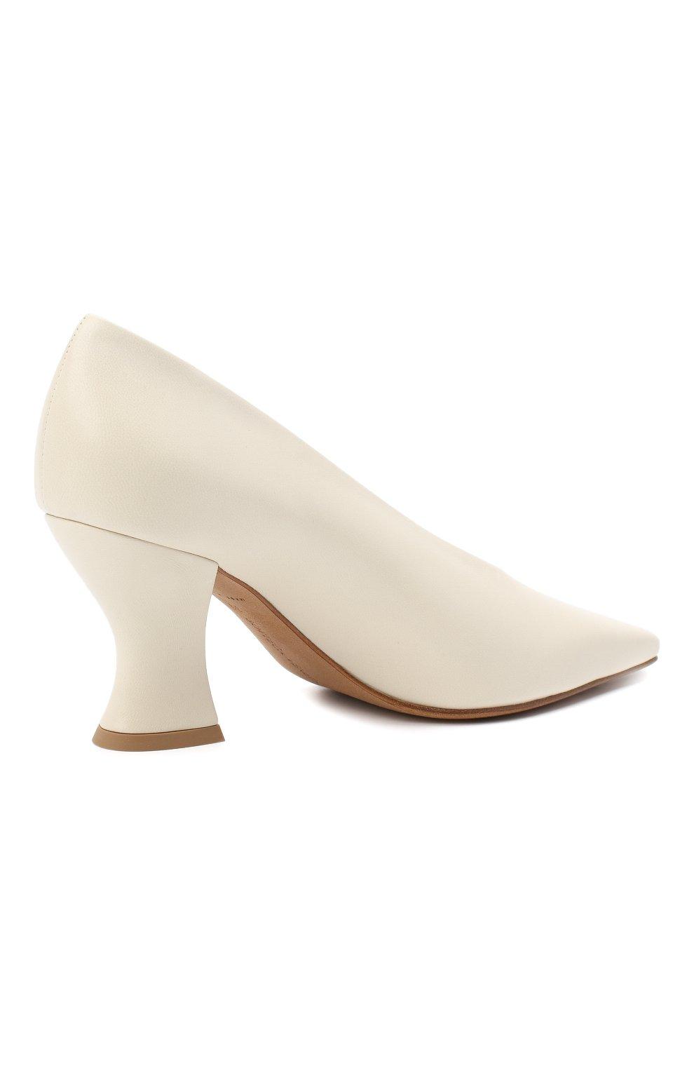 Женские кожаные туфли almond BOTTEGA VENETA кремвого цвета, арт. 608839/VBSD0 | Фото 4