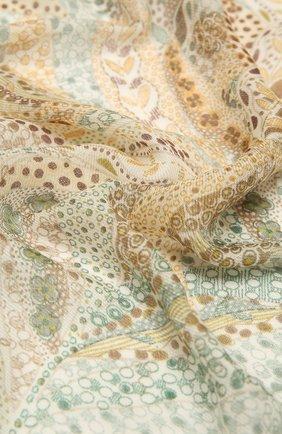 Женская шаль из кашемира и шелка LORO PIANA зеленого цвета, арт. FAL4111   Фото 2