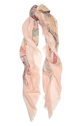 Женская шаль из кашемира и шелка LORO PIANA розового цвета, арт. FAL4111   Фото 1