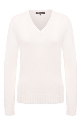 Женский пуловер из кашемира и шелка LORO PIANA белого цвета, арт. FAL4056 | Фото 1