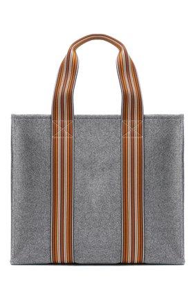 Женский сумка-шопер suitcase stripe LORO PIANA серого цвета, арт. FAL2357 | Фото 1 (Сумки-технические: Сумки-шопперы; Размер: large; Материал: Текстиль)
