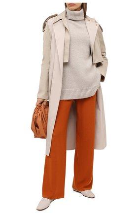 Женские кашемировые брюки LORO PIANA оранжевого цвета, арт. FAI6763 | Фото 2